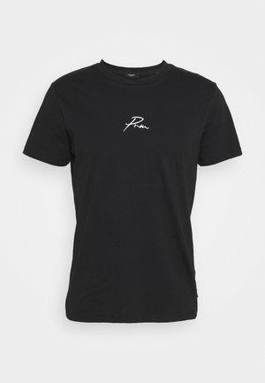 JPRBLA TEE CREW NECK - T-shirt z nadrukiem - black