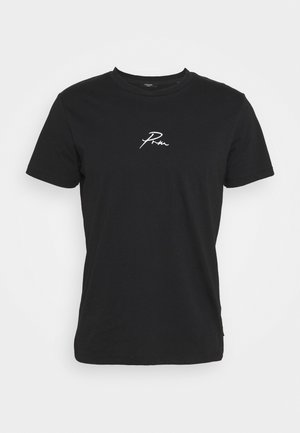 JPRBLA TEE CREW NECK - T-shirt imprimé - black