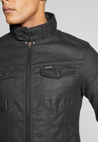 G-Star - ARC 3D ZIP SLIM - Denim jacket - pintt black - 5