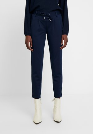 KNITTED TRACK PANTS - Trousers - real navy blue