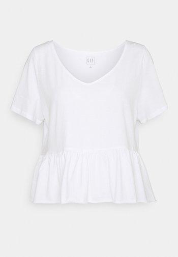 VINT PEPLUM - Print T-shirt - fresh white