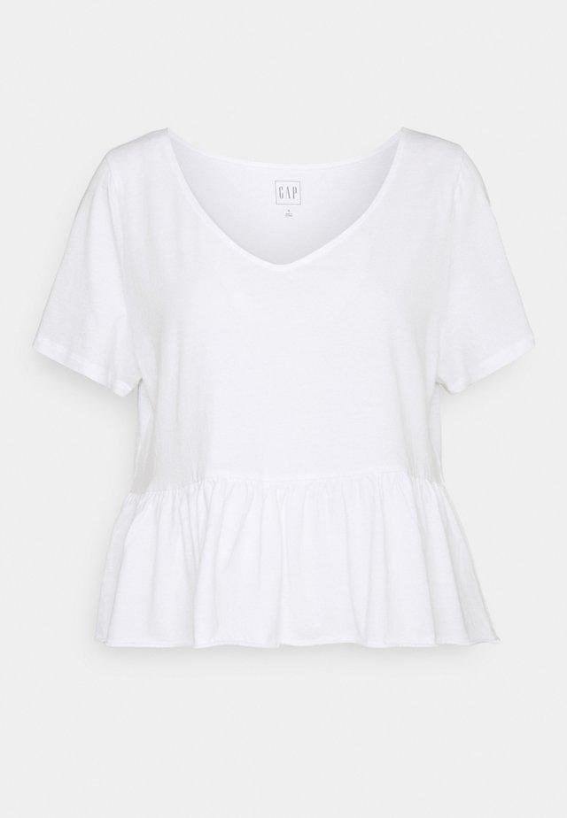 VINT PEPLUM - T-Shirt print - fresh white