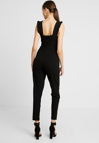 WAL G. - FRILL SLEEVE PLUNGE - Jumpsuit - black - 3