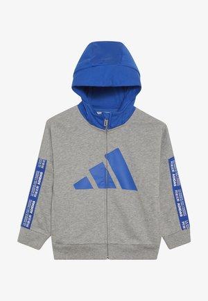 Zip-up hoodie - grey/blue