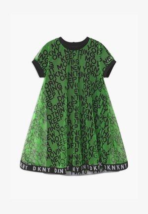 2-IN-1 - Jersey dress - fluo green