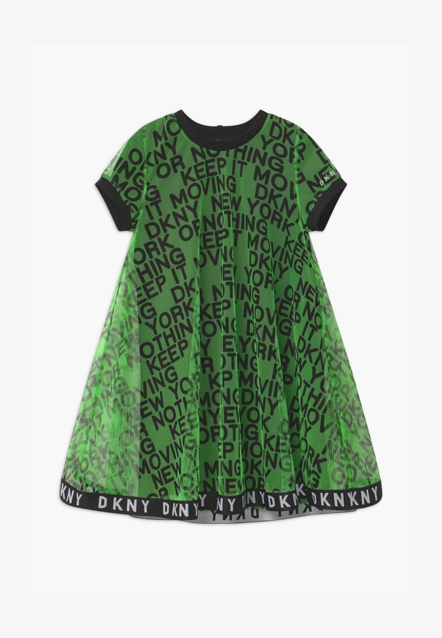 2-IN-1 - Jersey dress - fluo green