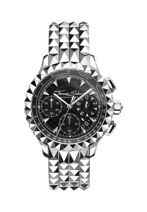 HERRENUHR EDELSTAHL, EDELSTAHL - Chronograph watch - silber