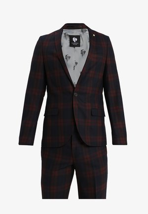 GINGER TARTAN SUIT - Garnitur - wine
