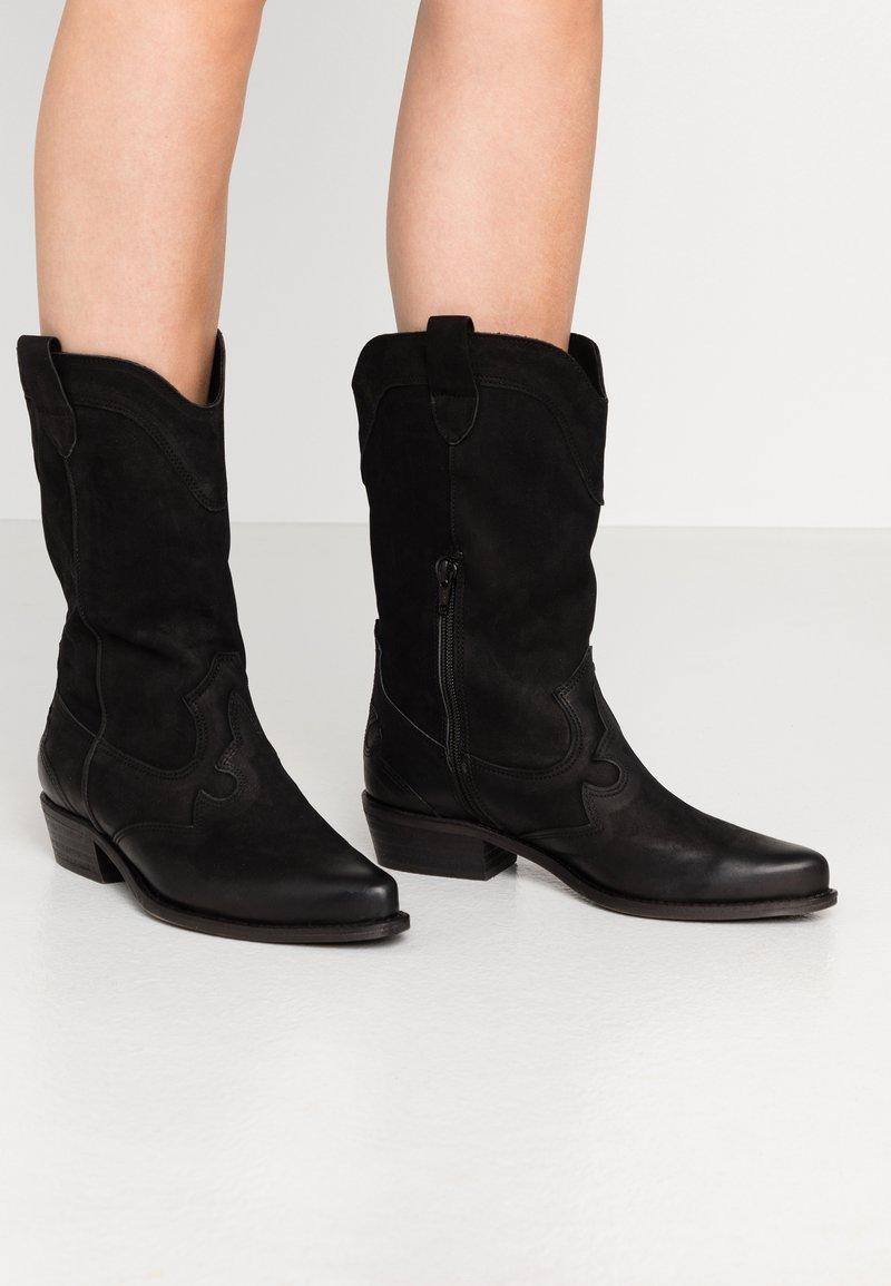 Felmini Wide Fit - GERBBERA - Cowboy/Biker boots - morgan black