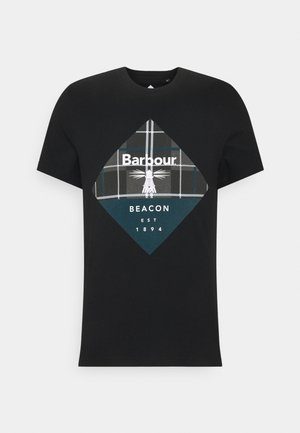 BECKER TEE - T-shirt med print - black