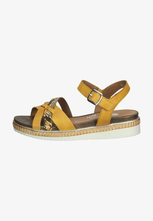 Sandały na koturnie - gelb/terra