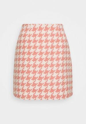JOSIE SKIRT HOUNDSTOOTH - Minifalda - rose/offwhite