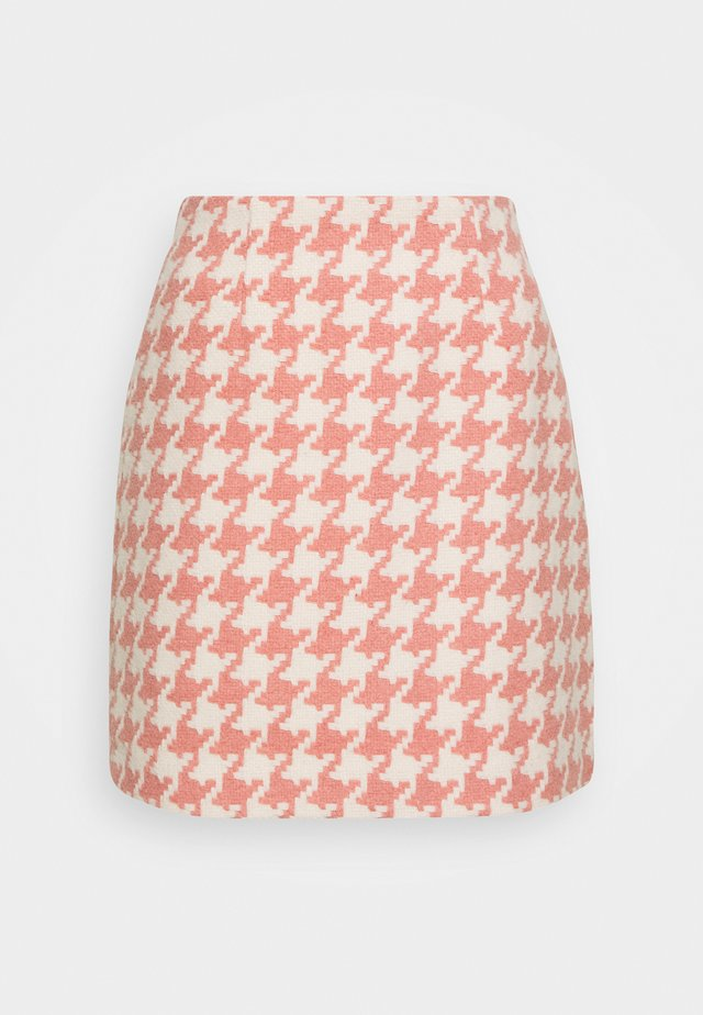 JOSIE SKIRT HOUNDSTOOTH - Mini skirts  - rose/offwhite