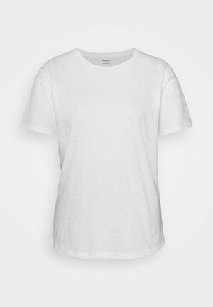 WHISPER CREWNECK TEE - Basic T-shirt - optic white