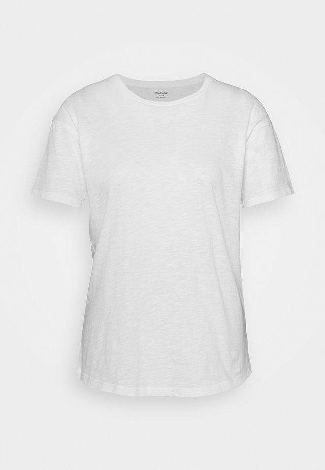 WHISPER CREWNECK TEE - T-shirt - bas - optic white
