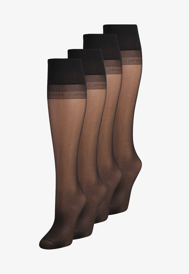20 DEN EVERYDAY 4  PACK - Calcetines hasta la rodilla - black