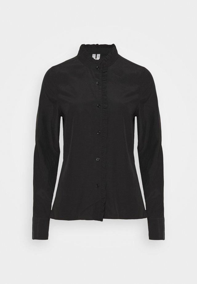 BLOUSE - Shirt dress - black dark