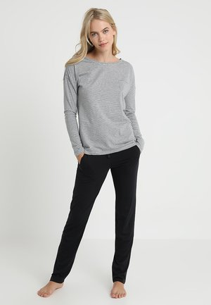 LOUNGESET CREW NECK - Pyjamas - grau-melange