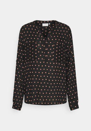 KADEMI BLOUSE - Blouse - black/ginger bread