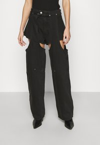 Weekday - MARIAH  - Jeans straight leg - washed black - 0