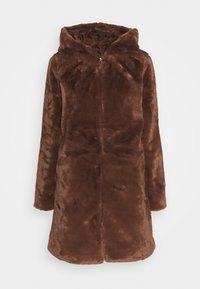 JDYTIT LONG - Classic coat - pinecone