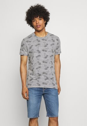 T-shirt med print - stone mix
