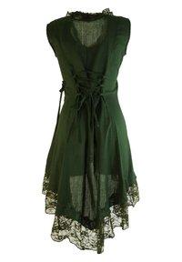 Guru Shop - MIT SPITZE - Blouse - dark green - 1