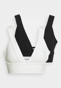 2 PACK BRALET WITH PLUNGE NECKLINE  - Top - black/white