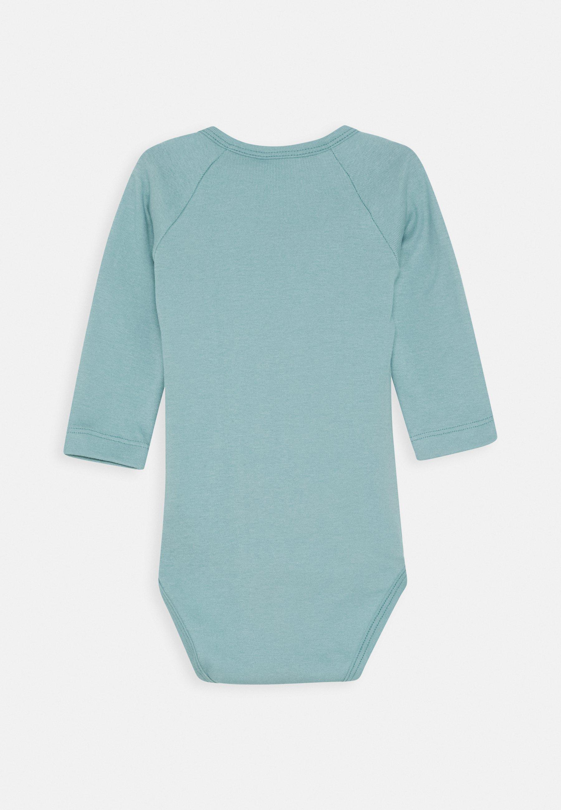 Sanetta Wrapover Longsleeve Multipack Baby 2 Pack - Body Blue Ice