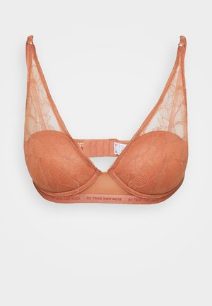 MESSAGE PADDED HALTER - Push-up bra - toffee