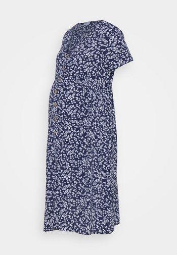 BUTTON FRONT MIDI DRESS - Sukienka koszulowa - medieval blue