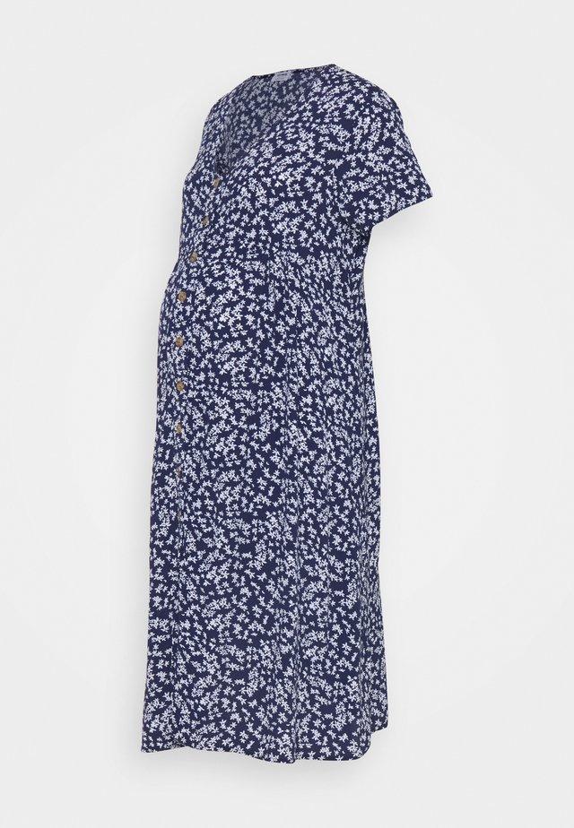 BUTTON FRONT MIDI DRESS - Blousejurk - medieval blue