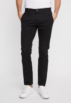 ALPHA ORIGINAL KHAKI SKINNY - Chinosy - black