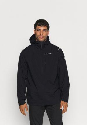 STOWAWAY ANORAK - Hardshell jacket - black