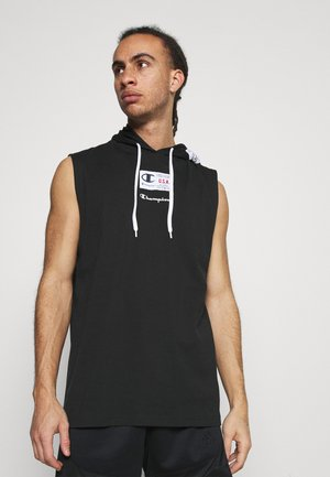 HOODED SLEEVELESS - Top - black