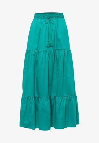 A-line skirt - emerald green