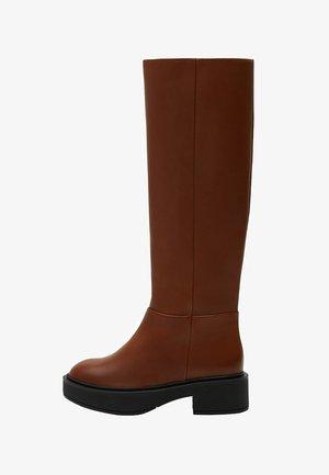 FUNK - Platform boots - średni brązowy