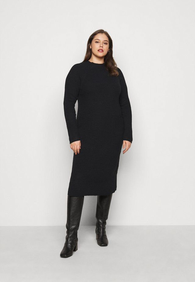 PCDISA MOCK NECK DRESS CURVE - Neulemekko - black