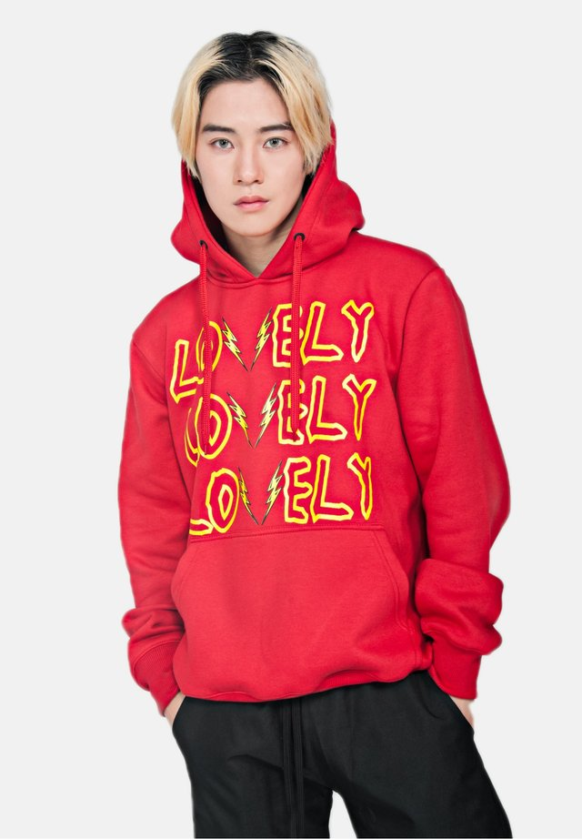 LOVELY/LONELY - Hoodie - metallic red