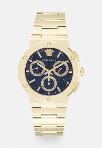 GRECA LOGO  - Zegarek chronograficzny - gold-coloured/black