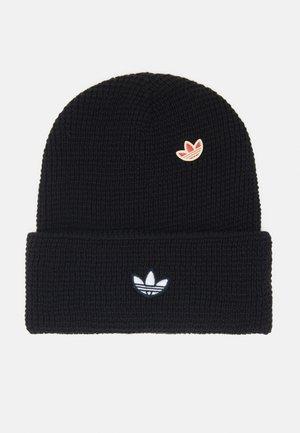 WAFFLE CUFF UNISEX - Bonnet - black