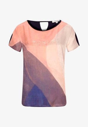 Print T-shirt - light coral color shades print