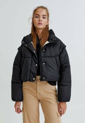 Winter jacket - mottled black