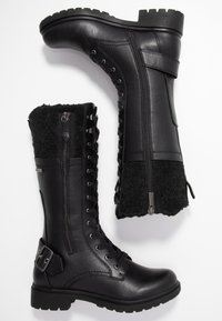 Tamaris - Snørestøvler - black - 3