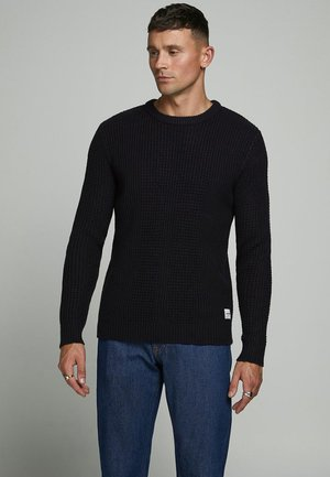 JCOSTRONGER CREW NECK - Stickad tröja - black