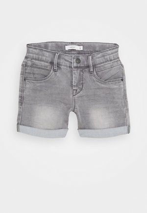 NKFSALLI DNMTIA - Shorts di jeans - light grey denim