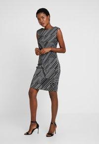 Esprit Collection - PRINTED PLISSE - Shift dress - black - 0