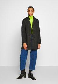 Vero Moda - VMBRUSHEDKATRINE  - Krótki płaszcz - dark grey melange - 1
