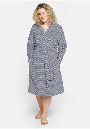 Dressing gown - marine gemustert