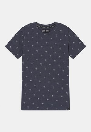 HOUSTON  - Print T-shirt - navy